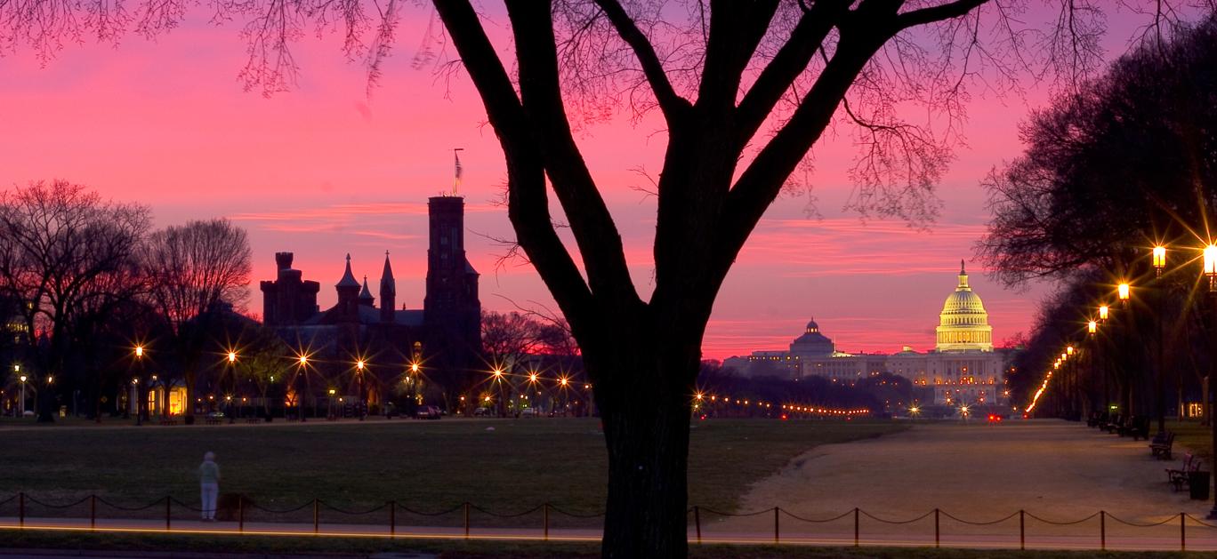 capital sunset pink sky