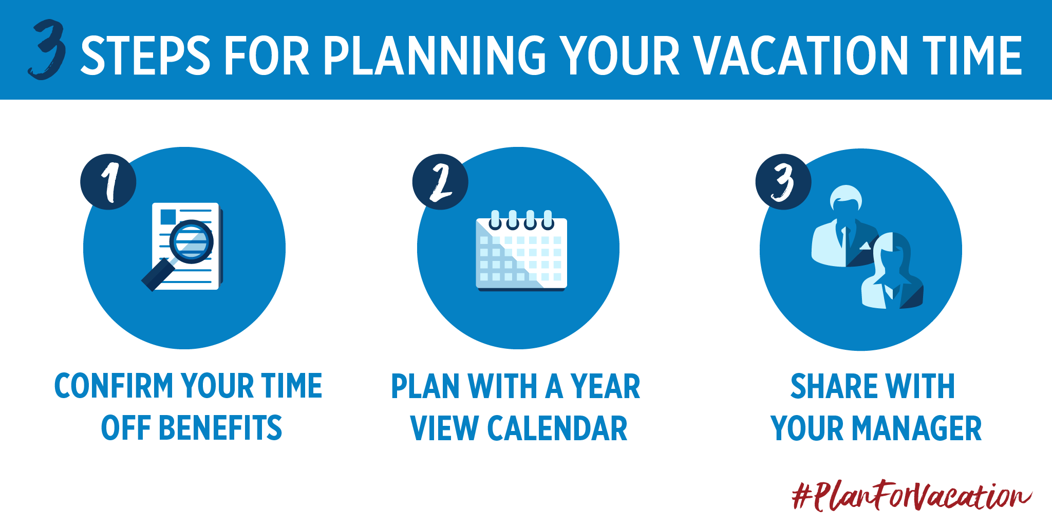 Three Steps for Planning Your Vacation Time