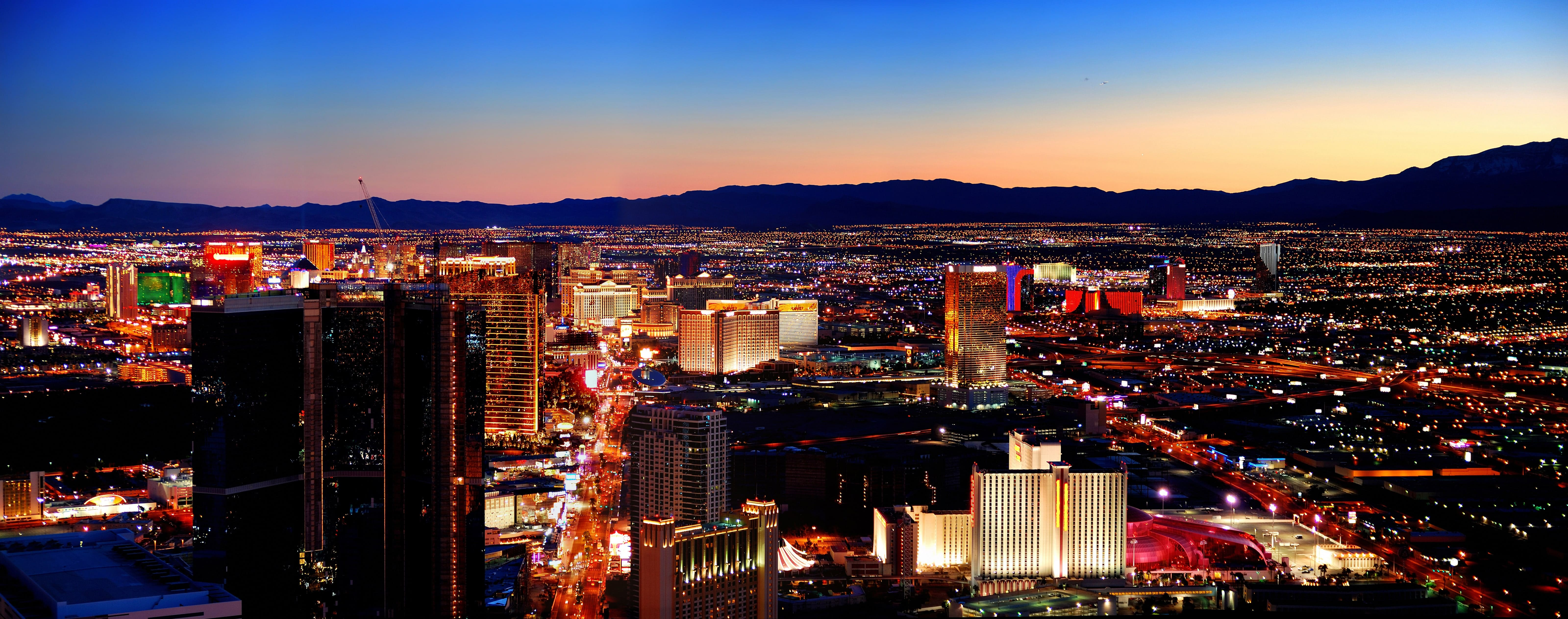 Skyline of Las Vegas, Nevada