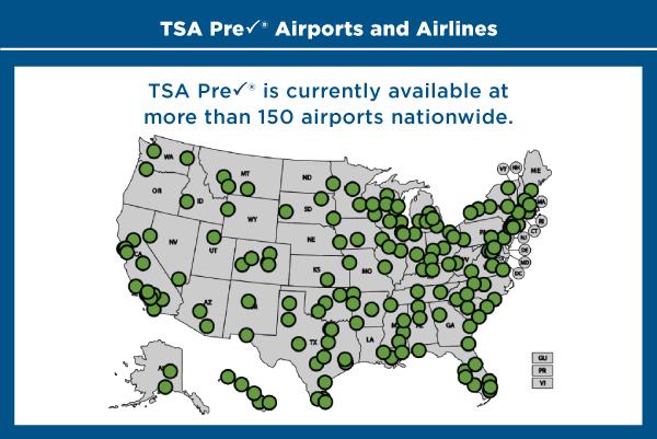 TSA Precheck Toolkit Interactive Map